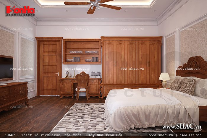 Một phòng ngủ đơn giản mà ấm áp sh btp 0078