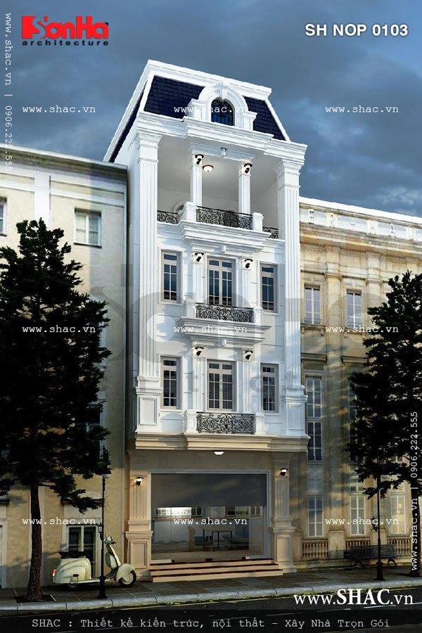 Nhà phố mặt tiền 6m kiểu pháp sh nop 0103