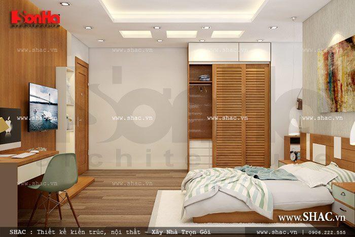 Thiết kế nội thất phòng ngủ đẹp và tiện nghi với cách bố trí ngăn nắp trong diện tích nhỏ