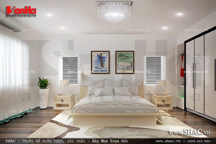 Phòng ngủ đơn giản với ô cửa thoáng sh nod 0147