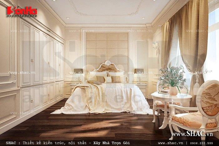 Mẫu phòng ngủ VIP có thiết kế nội thất xa hoa mang phong cách cổ điển sang trọng