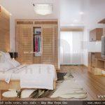 Phòng ngủ với nội thất gỗ đẹp sh nod 0147