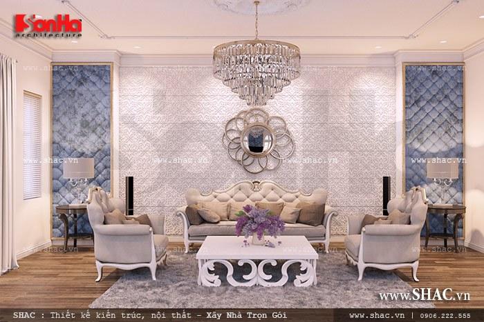 Mẫu thiết kế nội thất phòng sinh hoạt chung sang trọng với cách bố trí nội thất tinh tế