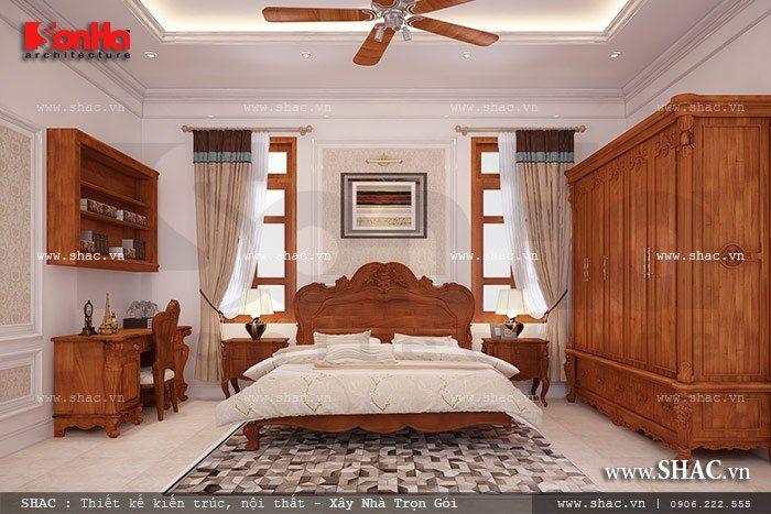 Không gian phòng ngủ nội thất gỗ đơn giản mà ngăn nắp đảm bảo tính tiện dụng nhất cho chủ nhân căn phòng