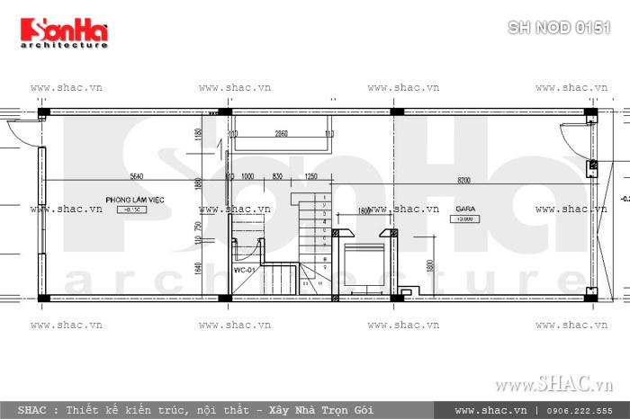 Phương án thiết kế nhà phố mặt tiền 6m hiện đại đẹp - SH NOD 0151 4