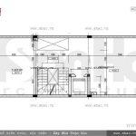 Bản vẽ mặt bằng công năng tầng 2 của nhà phố sh nod 0151