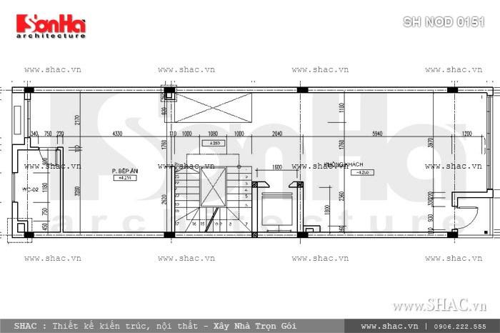 Phương án thiết kế nhà phố mặt tiền 6m hiện đại đẹp - SH NOD 0151 5