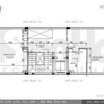 Bản vẽ mặt bằng công năng tầng 3 của nhà phố sh nod 0151