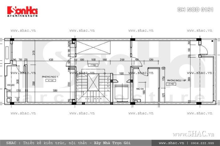 Phương án thiết kế nhà phố mặt tiền 6m hiện đại đẹp - SH NOD 0151 6