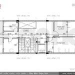 Bản vẽ mặt bằng công năng tầng 4 của nhà phố sh nod 0151