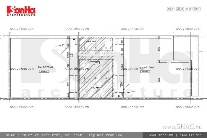 Phương án thiết kế nhà phố mặt tiền 6m hiện đại đẹp - SH NOD 0151 8