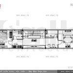 Bản vẽ nhà phố 3 tầng mặt tiền kiểu Pháp đẹp - SH NOP 0105 12