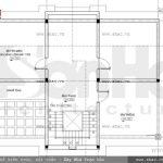 Bản vẽ mặt bằng công năng tầng mái biệt thự pháp sh btp 0087