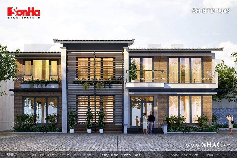 những mẫu biệt thự hiện đại 2 tầng đẹp nhất