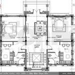 Bản vẽ mặt bằng công năng tầng 2 biệt thự pháp sh btp 0087