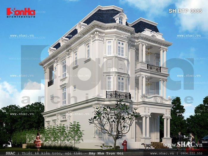 Kiến trúc Pháp sang trọng và đẳng cấp của mẫu biệt thự kiểu Pháp 3 tầng tại Quảng Ninh