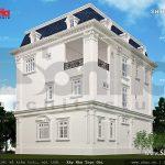 Mặt sau của ngôi biệt thự 3 tầng sh btp 0085
