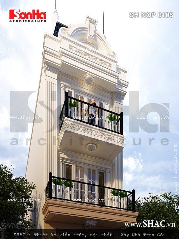 Mặt tiền kiến trúc Pháp của nhà ống sh nop 0105