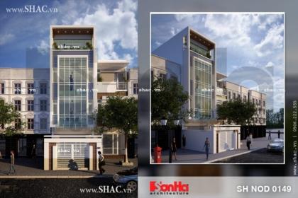 Nhà phố 4 tầng mặt tiền 5m hiện đại sh nod 0149