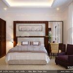 Mẫu phòng ngủ đơn giản thoáng đãng sh btp 0091