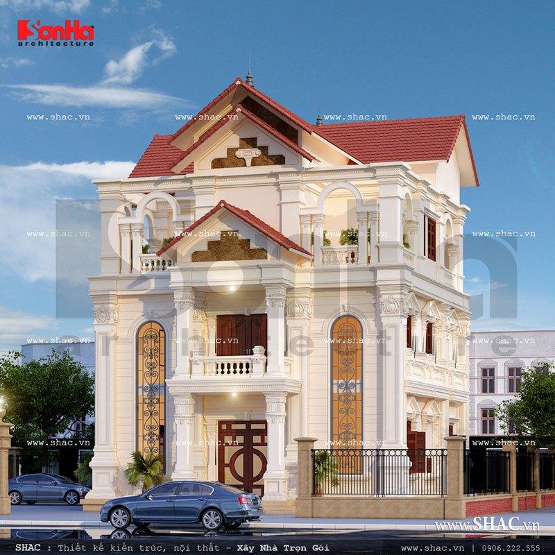 Ngôi biệt thự pháp 3 tầng đẹp sh btp 0088