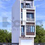Ngôi nhà cao 4 tầng 1 tum đẹp sh nod 0156