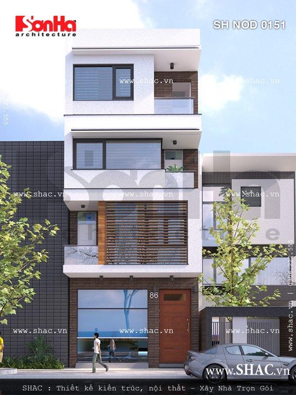 Phương án thiết kế nhà phố mặt tiền 6m hiện đại đẹp - SH NOD 0151 2