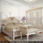 Nội thất giường tủ phòng ngủ kiểu pháp sh btp 0085
