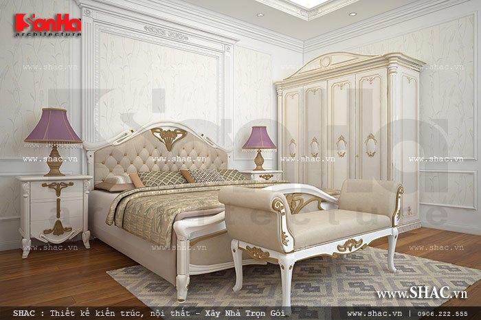 Thiết kế nội thất giường tủ đẹp với gam màu thanh nhã và tinh tế cho biệt thự