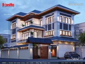Phương án thiết kế biệt thự đẹp sh btd 0044