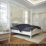 Phòng ngủ kiểu pháp nhẹ nhàng Phòng ngủ với vẻ đẹp thanh thoát sh btp 0085