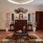 Phòng thờ gia đình theo phong cách truyền thống sh btp 0091