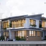 Phương án thiết kế biệt thự 2 tầng hiện đại sh btd 0043