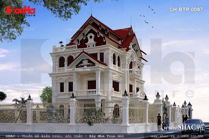 Mãu thiết kế biệt thự kiểu Pháp 3 tầng sang trọng tại Quảng Ninh rất được chủ đầu tư yêu thích
