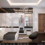 Thiết kế phòng ngủ mang phong cách hiện đại sh btp 0091
