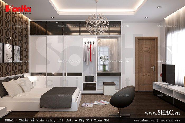 Căn phòng ngủ được thiết kế nội thất đẹp và cá tính đáp ứng đúng yêu cầu của chủ nhân căn phòng