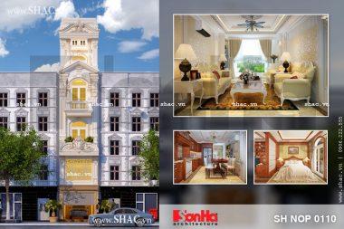 Thiết kế nhà ống kiến trúc Pháp đẹp tại Sài Gòn sh nop 0110