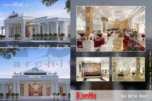 Nhà hàng tiệc cưới kiến trúc cổ điển Pháp sang trọng sh bck 0041
