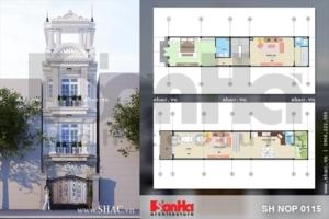 Phối cảnh thiết kế nhà phố kiến trúc cổ điển Pháp tại Hải Phòng sh nop 0115