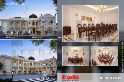 Thiết kế nhà hàng cổ điển sang trọng tại Gia Lai sh bck 0042