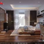 Mẫu thiết kế nội thất phòng ngủ 2 sang trọng nhà ống cổ điển sh nop 0113