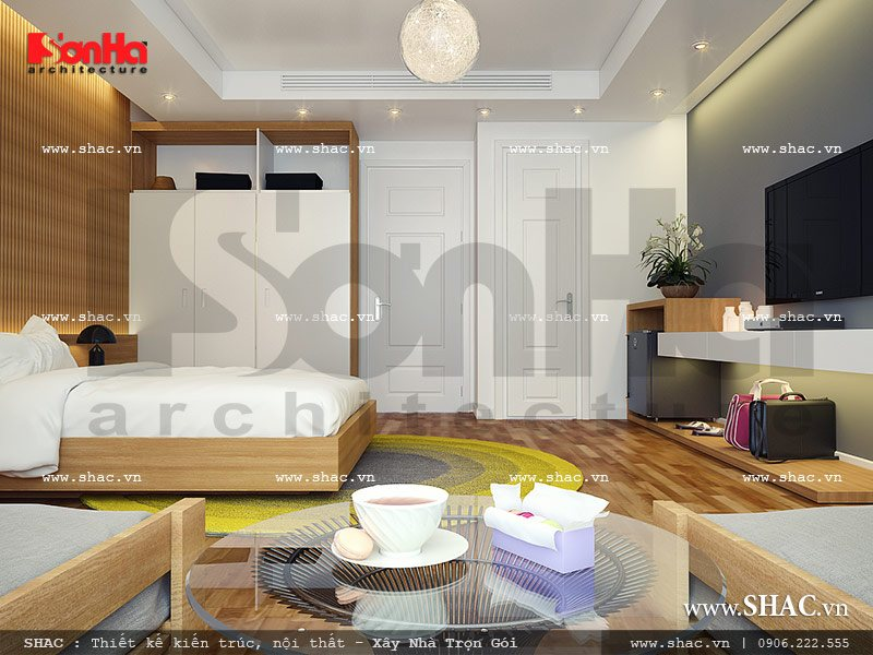 Mẫu thiết kế phòng ngủ 1 view2 khách sạn mini cổ điển đẹp sh ks 0027
