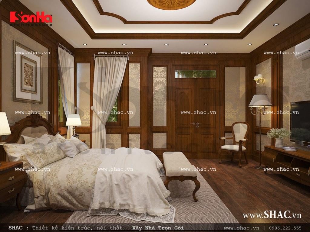 Thiết kế nội thất phòng ngủ bố mẹ cổ điển sh nop 0111