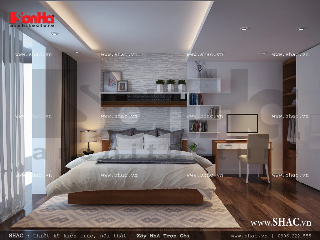 Thiết kế nội thất phòng ngủ 2 sang trọng nhà ống cổ điển sh nop 0113