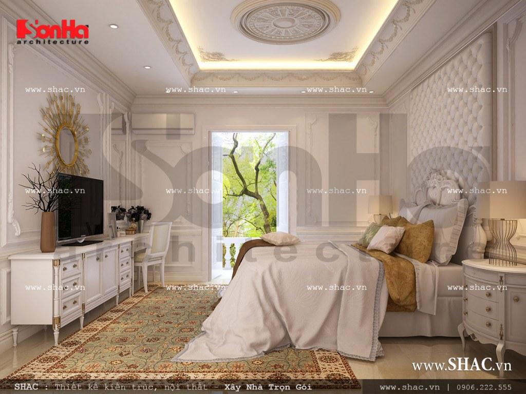 Thiết kế nội thất phòng ngủ gia chủ phong cách cổ điển đẳng cấp và vô cùng tiện nghi