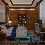 Thiết kế nội thất phòng ngủ con trai 2013 năng động sh nop 0111