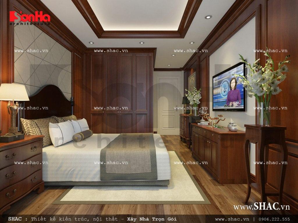 Thiết kế phòng ngủ 1 cổ điển sang trọng sh nop 0110