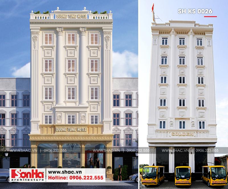 Mẫu thiết kế khách sạn cổ điển Pháp đẳng cấp tại Quảng Ninh - SH KS 0026 1