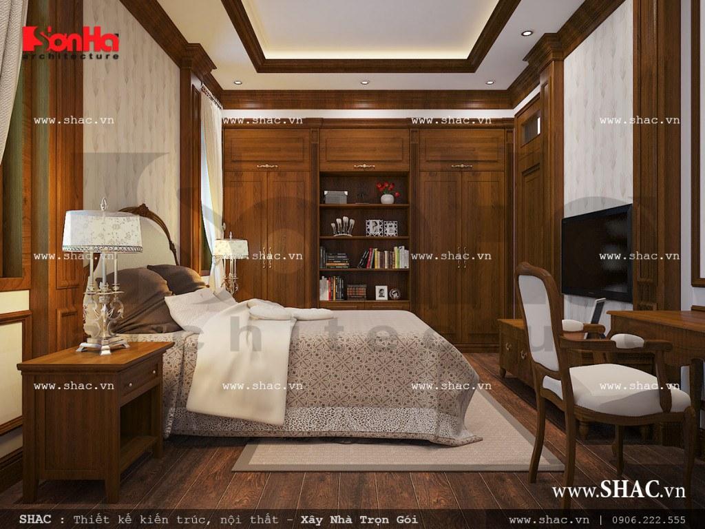Mẫu nội thất phòng ngủ khách sang trọng sh nop 0111