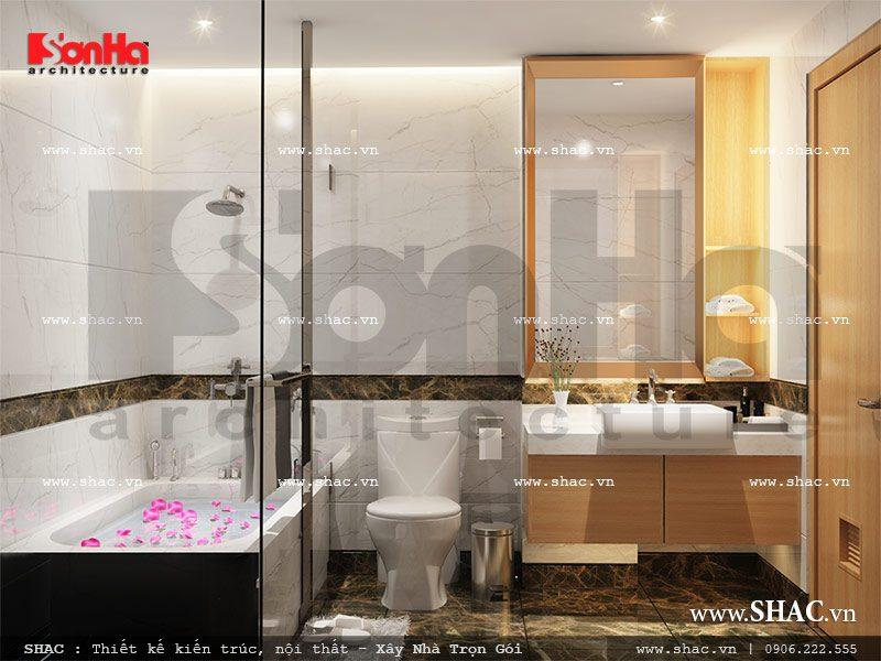 Mẫu thiết kế phòng tắm wc phòng ngủ 1 view2 khách sạn mini cổ điển đẹp sh ks 0027